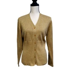 Preston & York Gold Sweater sz Medium
